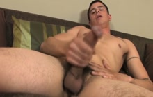 Twink with big cock masturbating