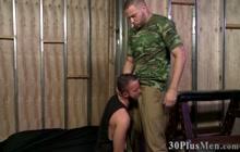Military stud fucks butthole