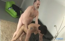 Sexy twink fucked by a fat daddy