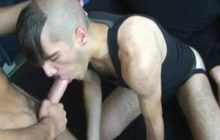 Twink giving a blowjob