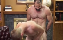 Twink assfucked by a horny bear