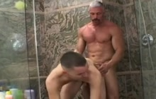 Daddy And Twink Hot Shower Fuck