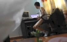 Asian twink caught on hidden cam